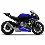 YAMAHA R1 15-19 Rossi Replica Monster Energy 2019 Dekor Stickerkit